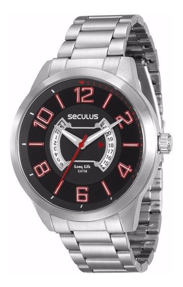Relógio Masculino Prateado Seculus Original 20325g0svna1