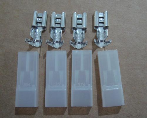Kit 4 Terminal + Capa Para Bateria Nobreak Sms Nhs Apc