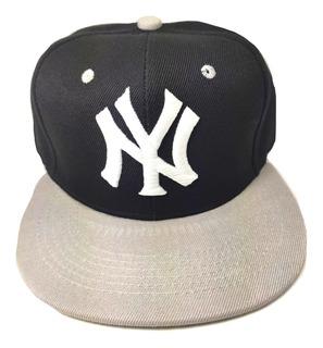 Gorra Ny Snapback Yankees Adulto Unitalla Color Gris Envío