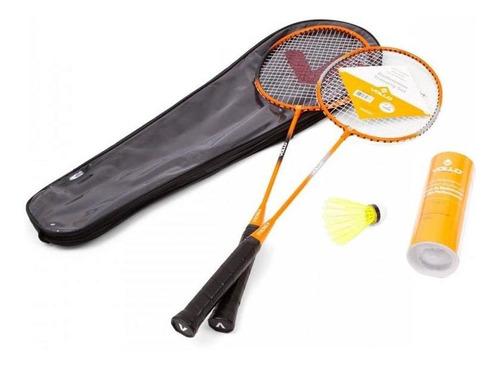 Kit Badminton Vollo 2 Raquetes + 3 Petecas + Raqueteira