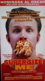 Documental Super Size Me / Super Tamaño - Vhs