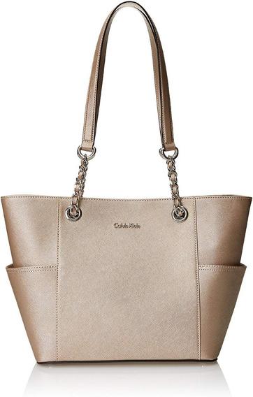 Bolsa Feminina Calvin Klein - Saffiano Leather Tote