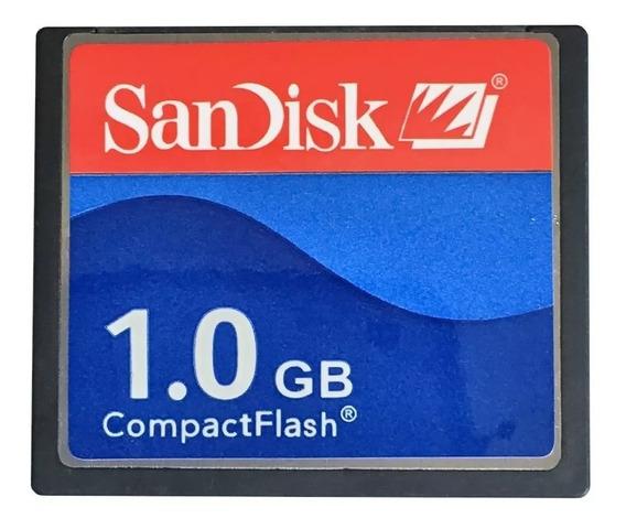 Kit 10 Cartão De Memória Compact Flash (cf) Sandisk 1gb