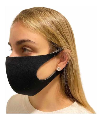 10 Mascaras Tripla Protecao Facial Não Descartavel Preta