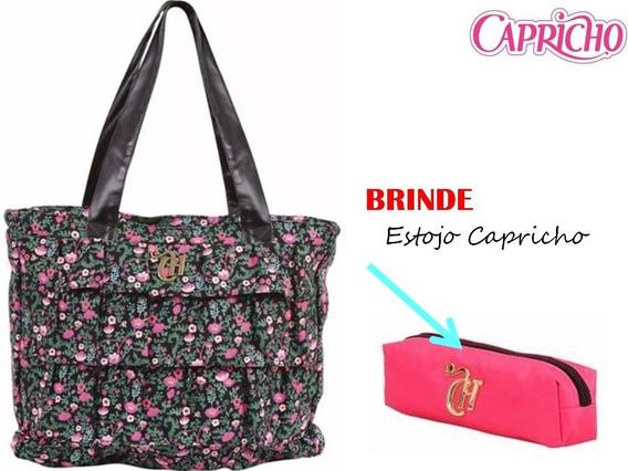 Bolsa Capricho Floral Preto Liberty - Dermiwil + Brinde B