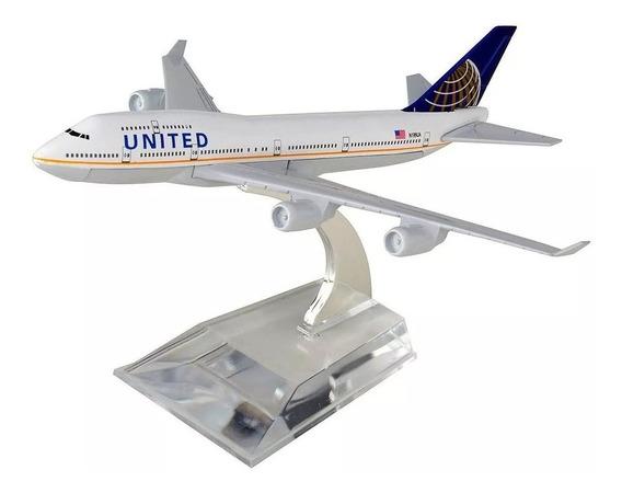United Miniatura Aviao Boing 747