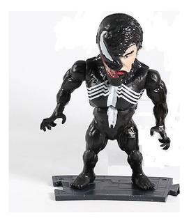 Venom Figura 10cm Base Articulado Cara Mascara Espectacular
