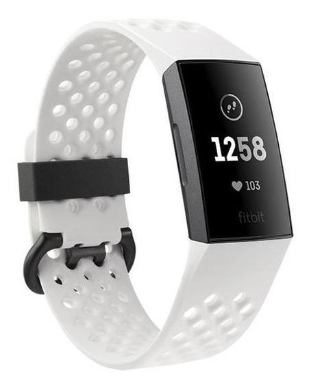 Pulsera De Actividad Fitbit Charge 3 Edición Especial Blanco