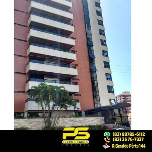 ( E X C L U S I V I D A D E ) Apartamento Com 4 Dormitórios À Venda, 280 M² Por R$ 780.000 - Manaíra - João Pessoa/pb - Ap1846