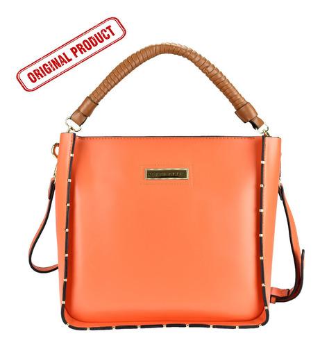 Imagen 1 de 5 de Bolsa Shoulder Marca Perry Ellis, Color Naranja, A01725