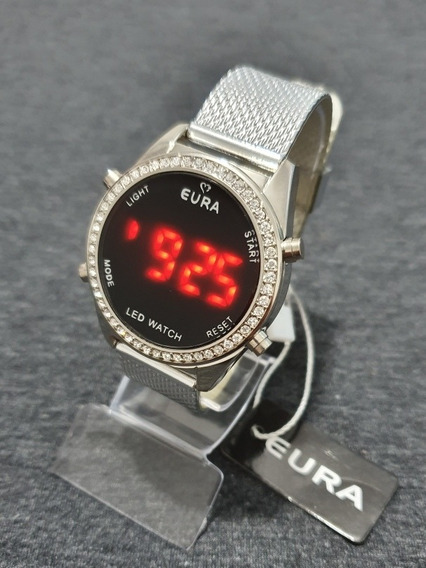 Relógio Feminino/mulher C/strass Modelo Led Garantia Barato