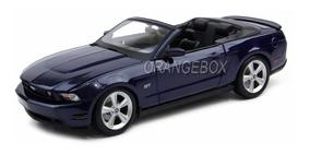 Ford Mustang Gt 2010 Convertible 1:18 Maisto Azul Escuro