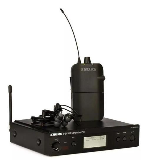 Shure Psm300 Com Fone S112 Transmissor Sem Fio Monitor Shure