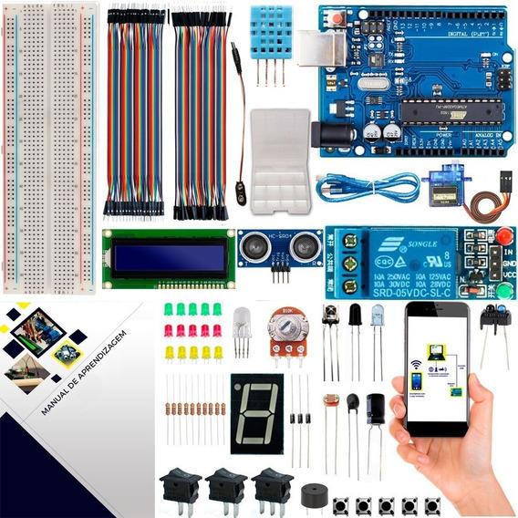 Kit Para Arduino Uno R3 Intermediário Automação + Brinde