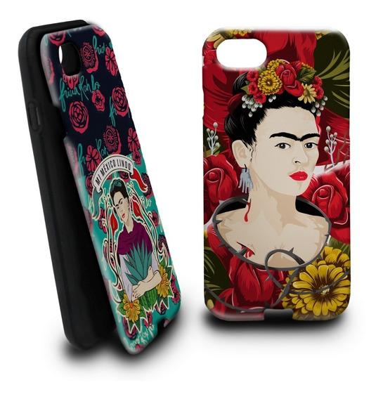 Funda Fridakhalo Intercambiable Para iPhone Samsug Huawei-02