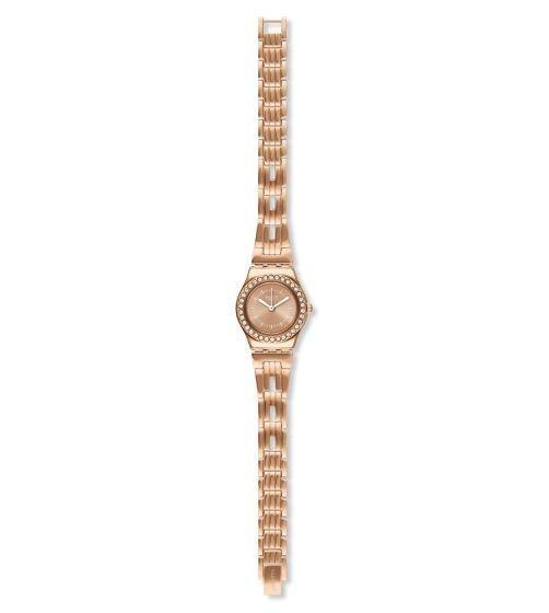 Relógio Swatch Kiroyal Cristais Ysg154g Aço Dourado Original