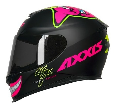 Capacete Axxis Mt Eagle Marianny Mg16 Celebrity Edition Rosa