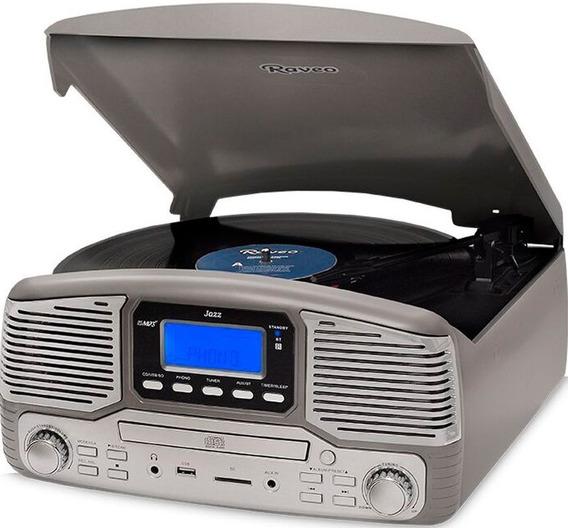 Toca Disco Jazz Vitrola Cd Gravação Bluetooth Fm Titanium