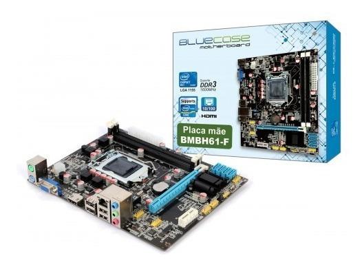 Placa Mae Bmbh61-d Box Ddr3 1155p Bluecase - 16gb / Vga / Hd