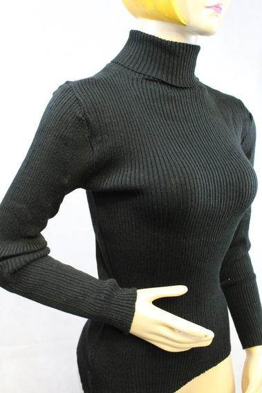 Blusa Sweter Cuello Tortuga O Ruso Tejido Frio Invierno