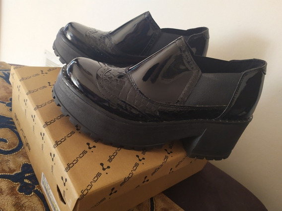 Plataformas Zapatos Charol Savage N39