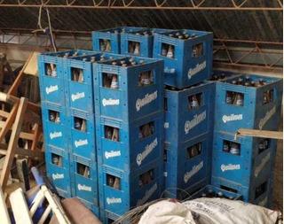 Cajón De Cerveza Quilmes Con 12 Botella Vacías