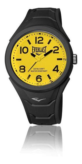 Relógio Pulso Everlast Unissex Esporte Silicone Preto E709