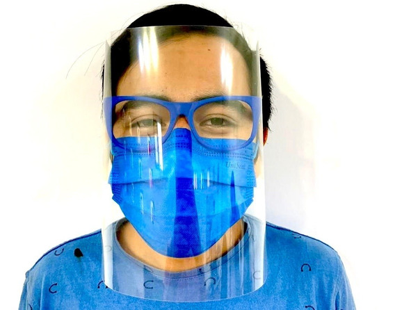 Careta Protectora Mascara Facial Protección Acetato Sencilla