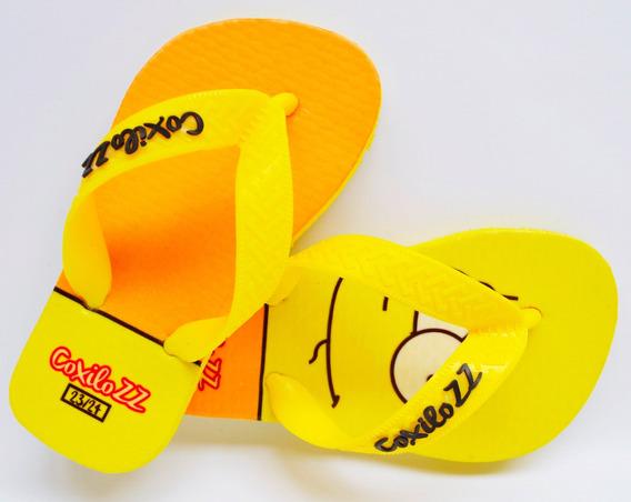 Chinelo Coxilozz Kids Bart Amarela