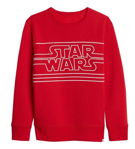 Sudadera Niño Cerrada Cuello Redondo Star Wars Rojo Gap