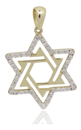 Imagen 1 de 4 de Dije Estrella De David Oro 10 Kilates