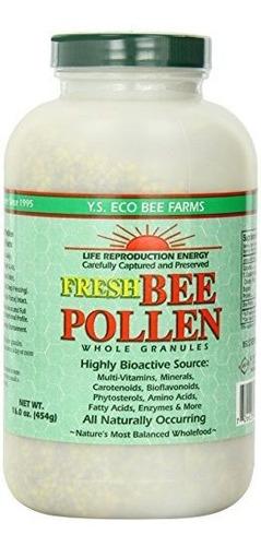 Polen De Abeja O Jalea Real Orgánico, Ys Bee Farms,16 Onzas