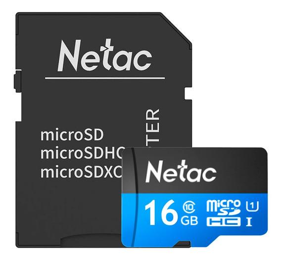 Cartão Memória Microsd 16gb 80mb/s Netac C Adap
