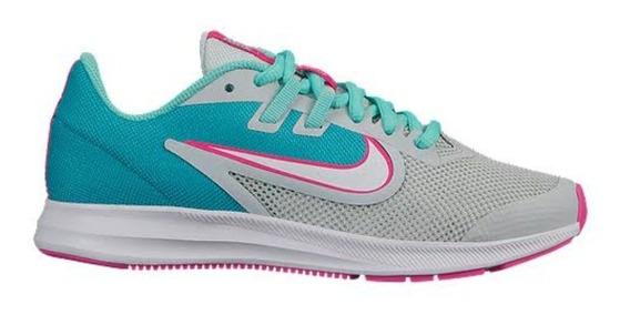 Tenis Nike Downshifter 9 Aqua Dama Correr Original Oferta