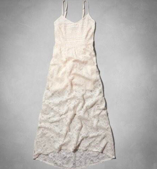 Abercrombie Vestido De Encaje Con Enagua Importado