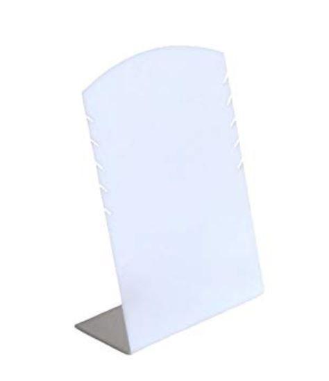 Expositor Display Colar Jóias Acrílico Branco 1 Peça