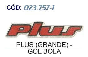 Emblema Plus - Resinado (gol Bola/grande) #023757