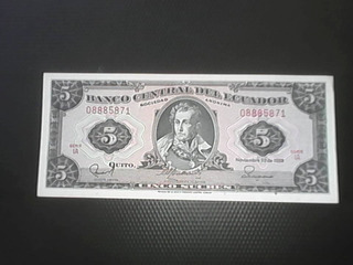 Billetes De 5 Sucres - Excelente Estado Para Colección
