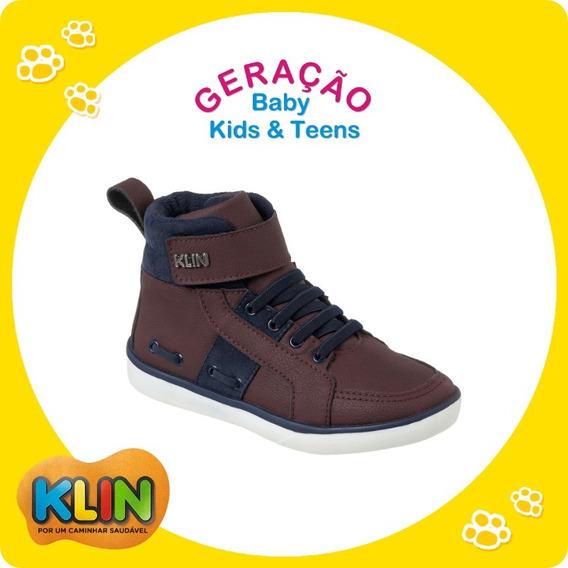Sapato Bota Infantil Juvenil Menino Cano Alto Klin 20941