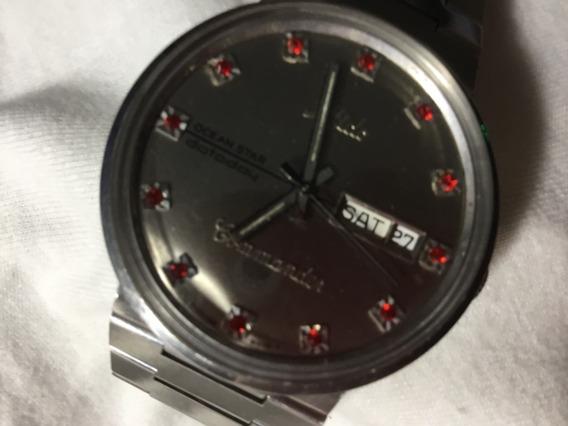 Relógio Mido Commander Ocean Star, Cristal Cintilante Vermel