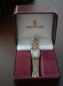 Vendo Relógio Séculus Clássico Com Banho De Ouro