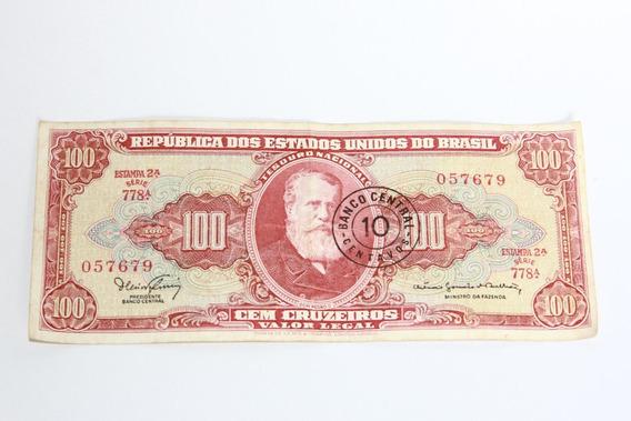 Nota De 100 Cruzeiros-10 Centavos