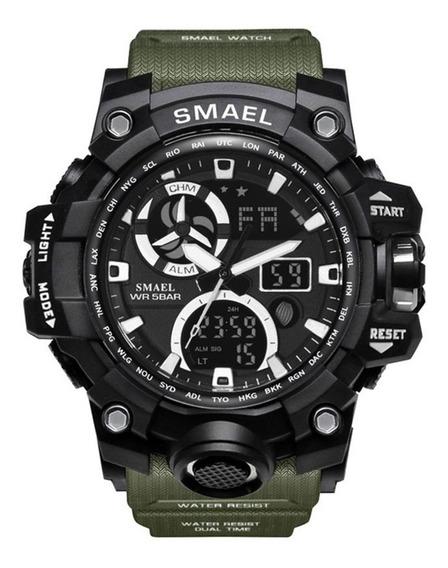 Relógio Masculino Tático Digital Smael 1545 À Prova D