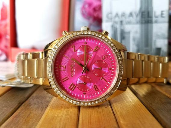 Reloj Mujer Caravelle Acero Inoxidable Cristales Rosa Remate