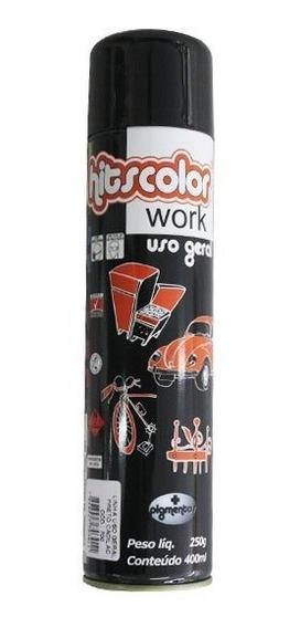 Tinta Spray Automotiva Uso Geral 400ml - Preto Brilhoso Cad