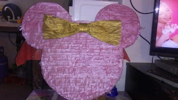 Piñata Minnie Rosa Y Dorado