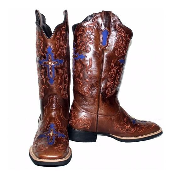 Bota Feminina Texana West Country Cruz