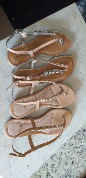 2 Sandálias Usadas Numero 36 Marca Pink E Piccadilly