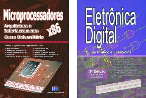 Imagem 1 de 6 de Livros Microproc X86 & Eletrônica Digital Capa Mole 10%desc