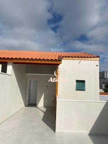Cobertura Com 2 Dormitórios À Venda, 38 M² Por R$ 370.000,00 - Bangu - Santo André/sp - Co0795